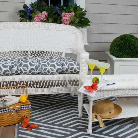 Glasgow Geometric Reversible Loveseat Cushion by Havenside Home
