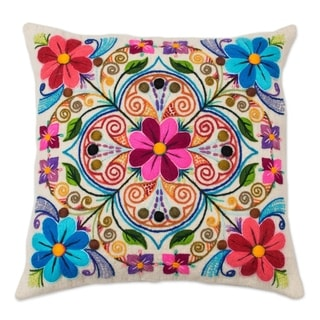 Andean Kaleidoscope Wool And Alpaca Blend Cushion Cover
