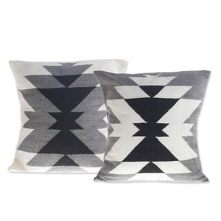 Inca Smoke  Alpaca Blend Cushion Covers (Pair)