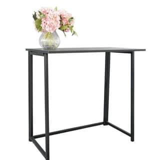Simple Collapsible Computer Desk Black