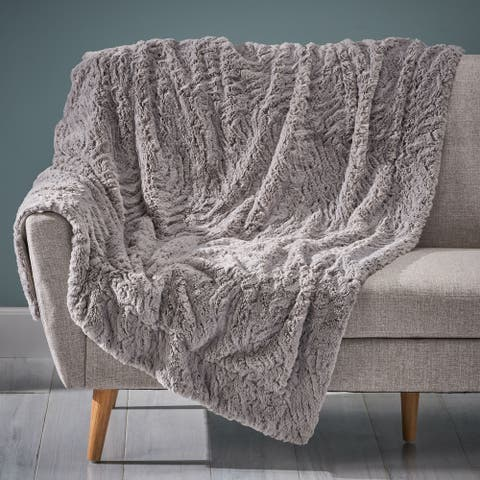 Toscana Faux Fur Throw Blanket by Christopher Knight Home