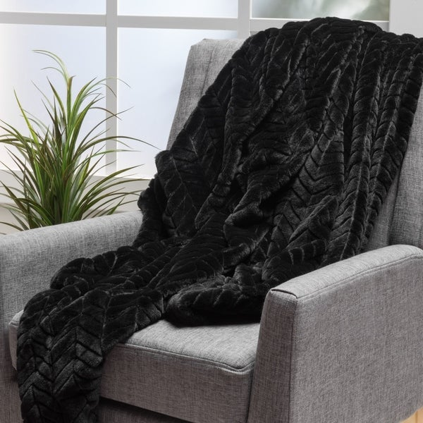 Toscana Faux Fur Throw Blanket by Christopher Knight Home. Opens flyout.