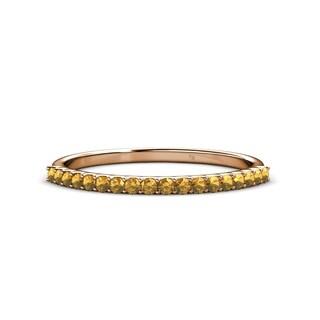 TriJewels Citrine 18 Stone Womens Wedding Band 0 23 Ctw 14KR Gold