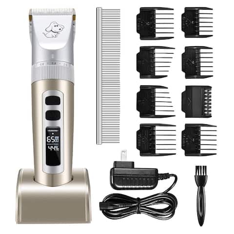 12PCS Dog Clippers Omorc Cordless Pet Grooming Kit Rechargeable Cat Shaver Quiet Electric Dog Shears for All Pets
