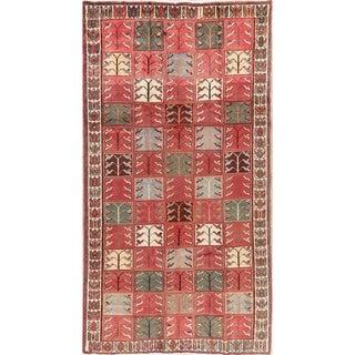 Vintage Geometric Bakhtiari Persian Area Rug Handmade