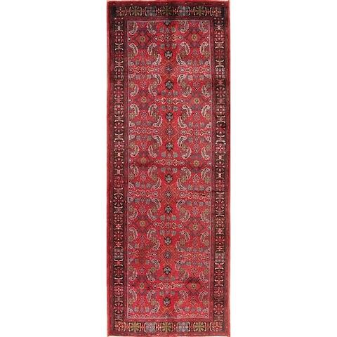Vintage All-Over Floral Bidjar Persian Runner Rug Handmade