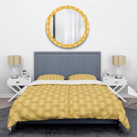 Designart 'Golden Geometric I' Mid-Century Duvet Cover Set
