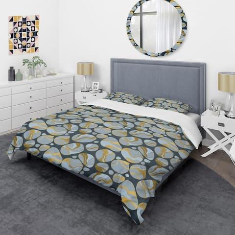 Designart 'Golden Marble Design IV' Mid-Century Duvet Cover Set