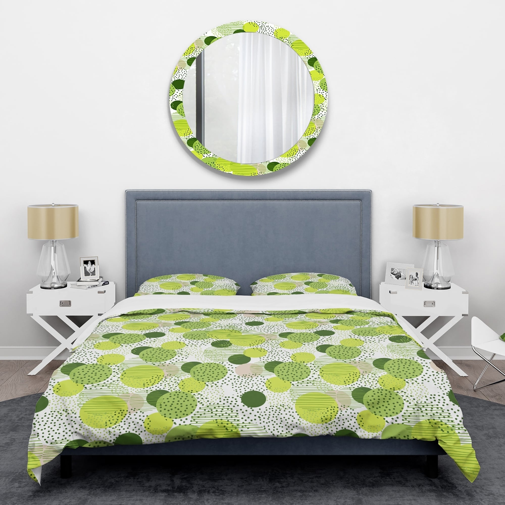 Designart Circular Abstract Retro Geometric X Mid Century Duvet Cover Set On Sale Overstock 28490423