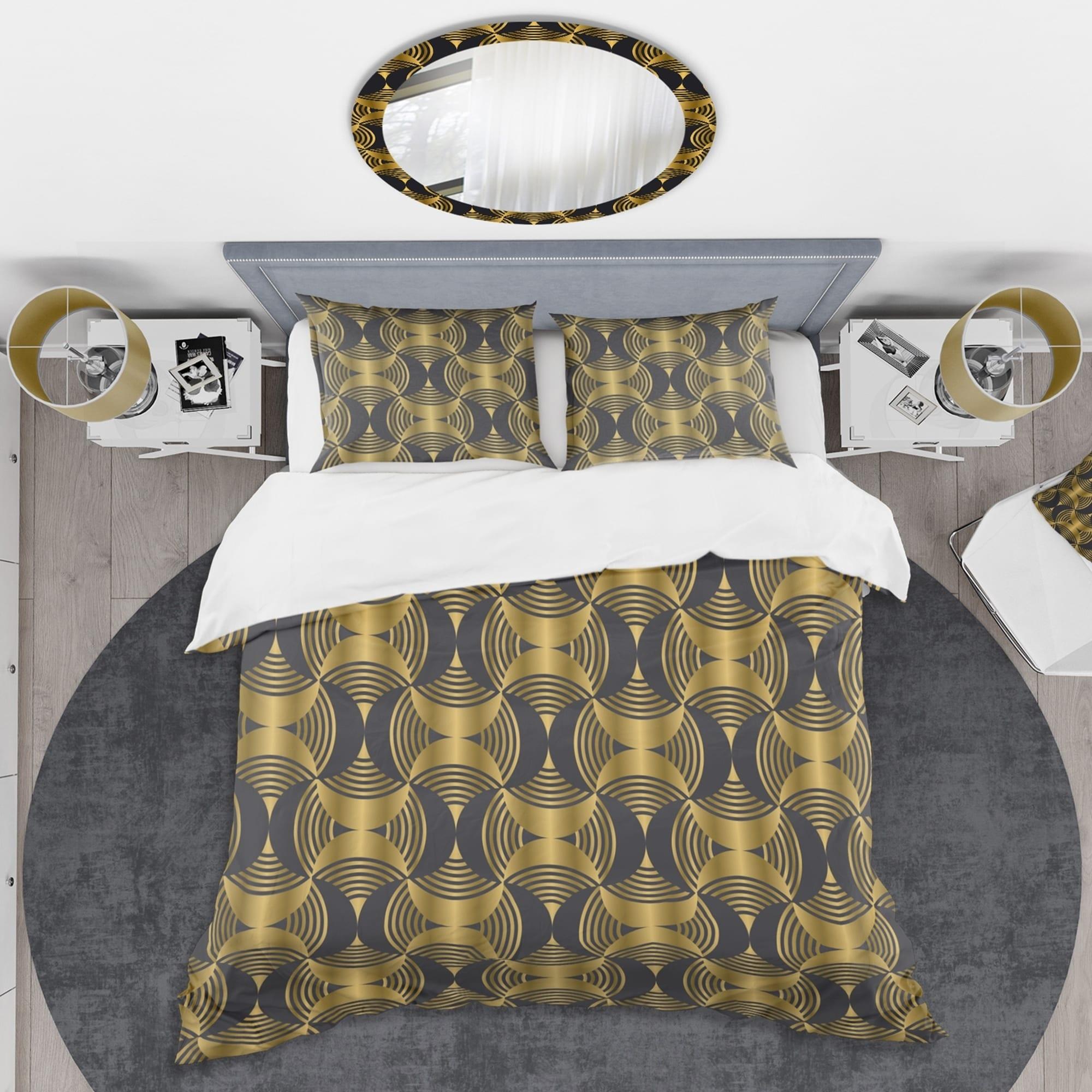 Designart Art Deco Style Modern Pattern Mid Century Duvet Cover Set Overstock 28490456