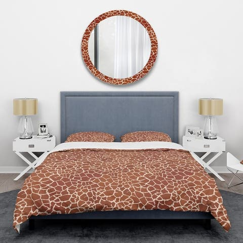 Designart 'Leopard Fur Safari I' Mid-Century Duvet Cover Set