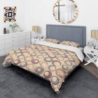 Designart 'Retro Geometric Pattern' Mid-Century Duvet Cover Set