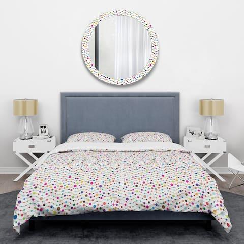 Designart 'Color Waves of Polka Dots' Mid-Century Duvet Cover Set