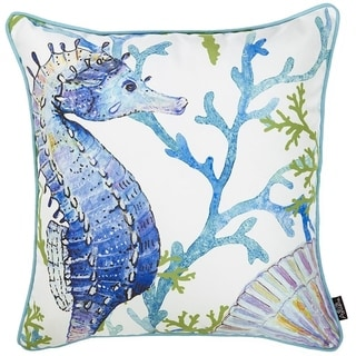 Porch & Den Santa Monica Seahorse Throw Pillow Cover