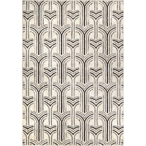 "Orian Sedona Grand Theatre Light Gray Area Rug - 5'3"" x 7'6"""