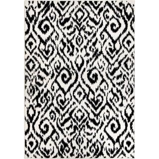 """Orian Sedona Nakai Black White Area Rug - 7'10"""" x 10'"""
