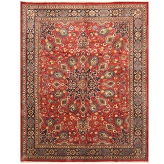 Handmade One-of-a-Kind Mashad Wool Rug (Iran) - 10' x 12'7