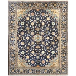 Handmade One-of-a-Kind Kashan Wool Rug (Iran) - 10'6 x 13'3