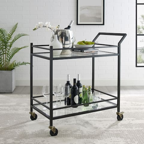 Silver Orchid Grifith Oil-Rubbed Bronze Bar Cart