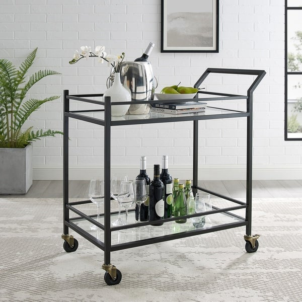 Silver Orchid Grifith Oil-Rubbed Bronze Bar Cart. Opens flyout.