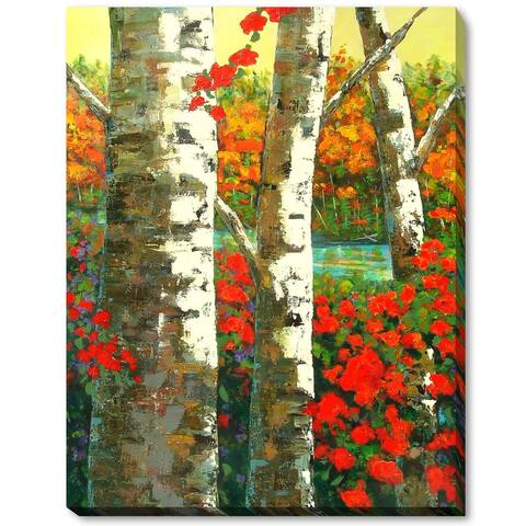 """ArtistBe by overstockArt Birches by Marilyn Hurst Gallery Wrapped Canvas Wall Art, 18"""" x 14"""" - 18"""" x 14"""""""