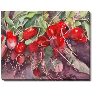 "ArtistBe by overstockArt Radishes by Lynne Atwood Gallery Wrapped Canvas Wall Art, 18"" x 14"" - 18"" x 14"""