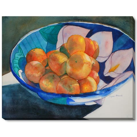"""ArtistBe by overstockArt Clementines by Lynne Atwood Gallery Wrapped Canvas Wall Art, 18"""" x 14"""" - 18"""" x 14"""""""