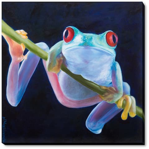 """ArtistBe by overstockArt Frog by Natalya Marinych Gallery Wrapped Canvas Wall Art, 22"""" x 22"""" - 22"""" x 22"""""""