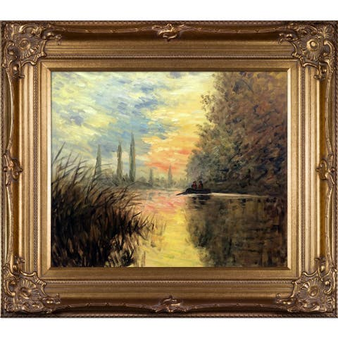 Gracewood Hollow 'Evening at Argentuil' Oil Painting Wall Art with Bronze Frame