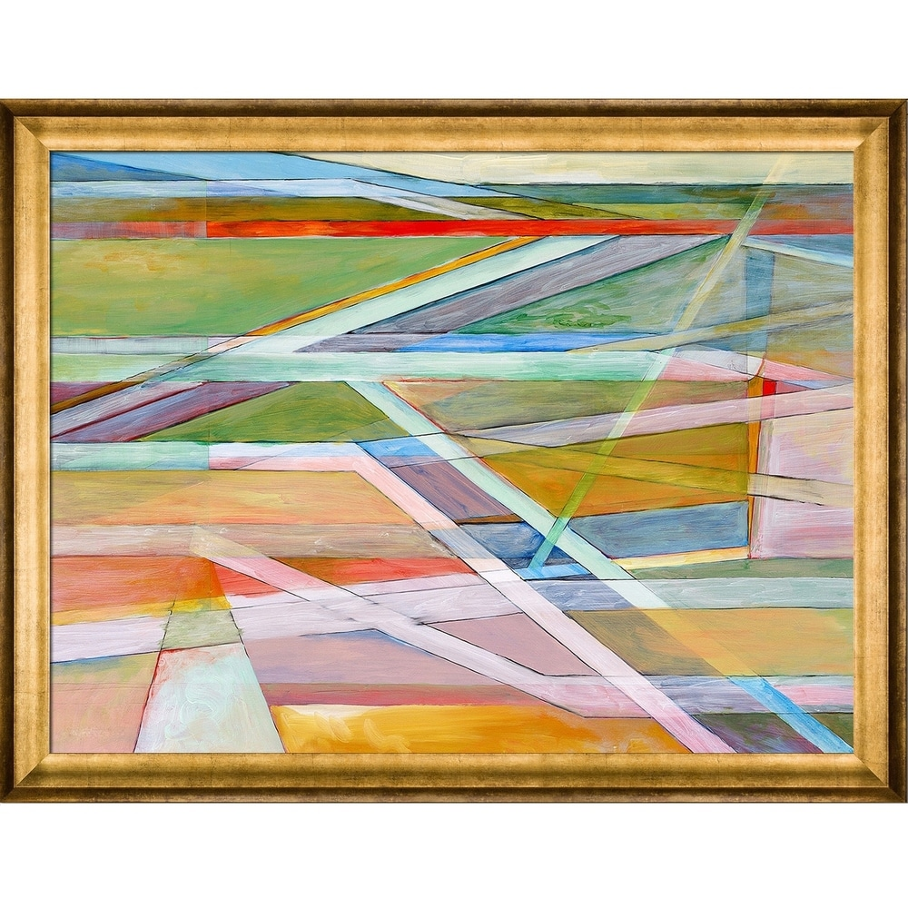 overstockArt ArtistBe Rangle No.11 with Black Satin Frame by Clive Watts