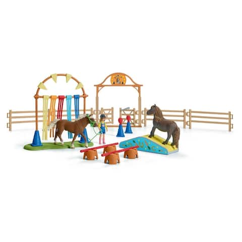 Schleich Farm World, Pony Agility Training Center Playset and Toy Figures