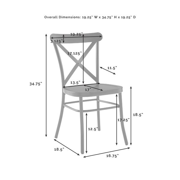 Carbon Loft Childeric Matte Black 2-piece Dining Chair - N/A