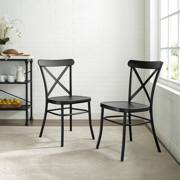 Carbon Loft Childeric Matte Black 2-piece Dining Chair - N/A. Opens flyout.