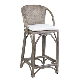 The Curated Nomad Leapingridge Aged Rattan Stool