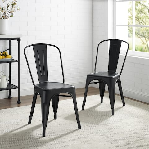 Carbon Loft Salian 2-piece Matte Black 17-inch Metal Chair - N/A