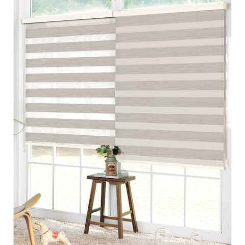 Studio 707- Wood Look Zebra Roller Blind
