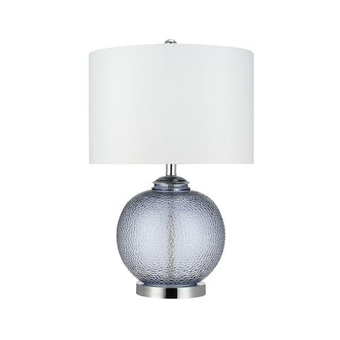 "Catalina Lighting Smoke Grey Glass Table Lamp, 23.5"", 21868-000"