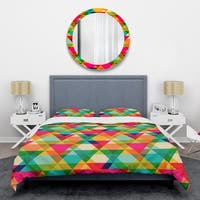 Designart 'Diamond Retro IX' Mid-Century Duvet Cover Set