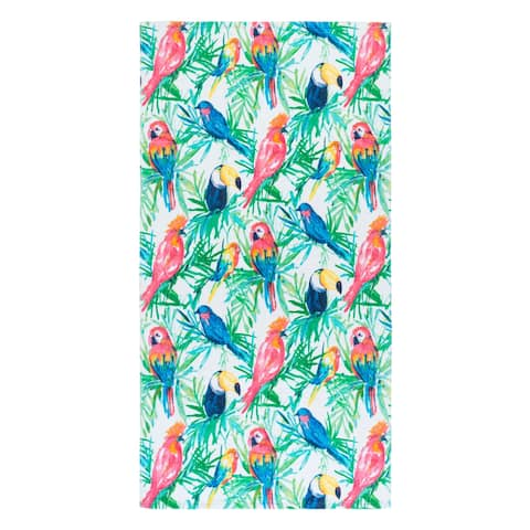 Bird Paradise Multi Beach Towel - 36x68