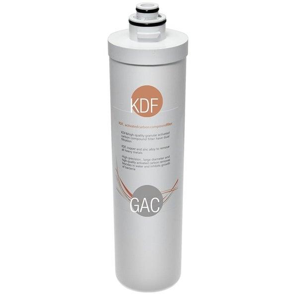 iSpring FKG15Q Quick-Change Inline KDF/Carbon Filter, fits CU-A4, White