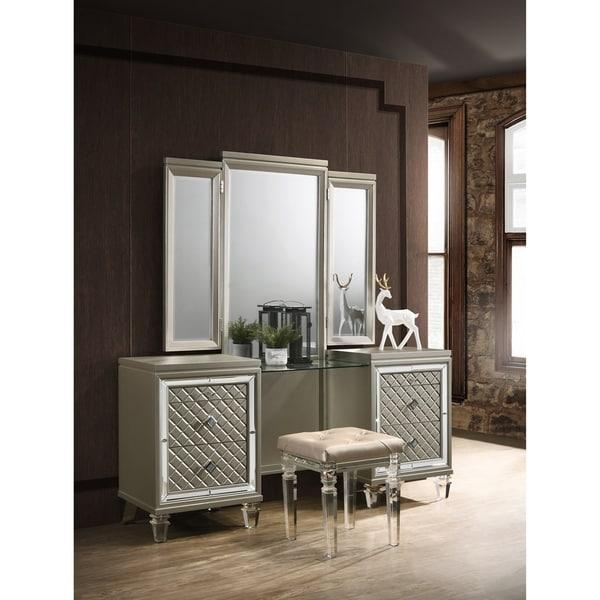 Best Quality Furniture 3-Piece Venetian Vanity Set. Opens flyout.