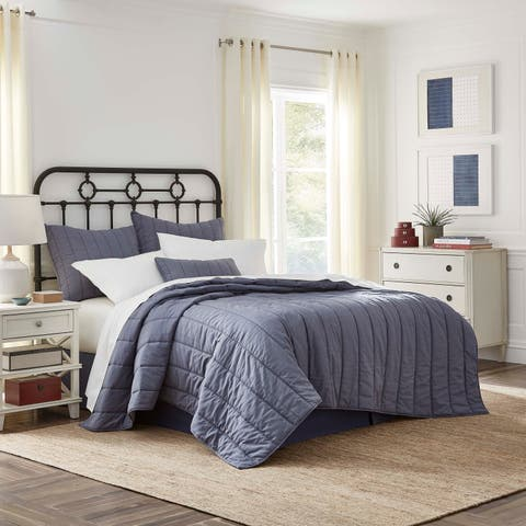 Southern Tide Linville Chambray Blue Quilt