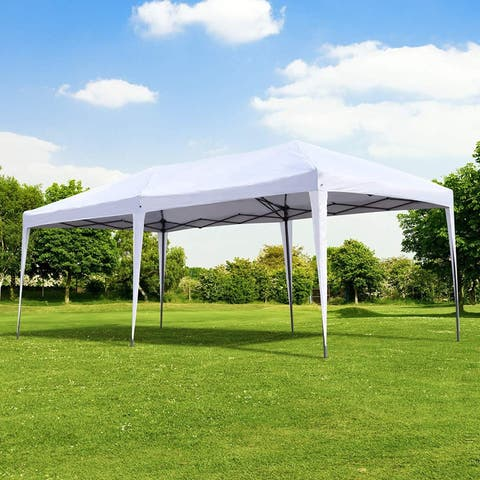 Outsunny 10 x 20 Easy Pop Up Canopy Party Tent