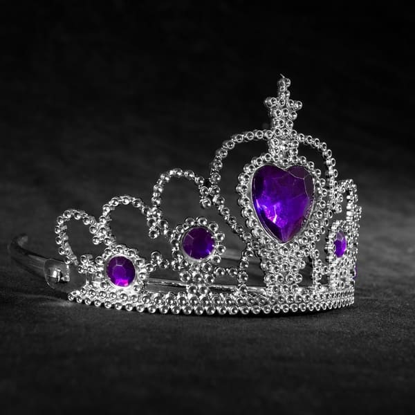 Fairy Princess Queen Plastic Tiara Crown Silver Headband Dress Up Accessories