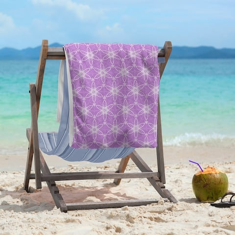 Color Background Ornate Circles Beach Towel - 36 x 72