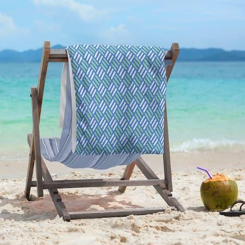 Two Color Stripe Diamonds Beach Towel - 36 x 72