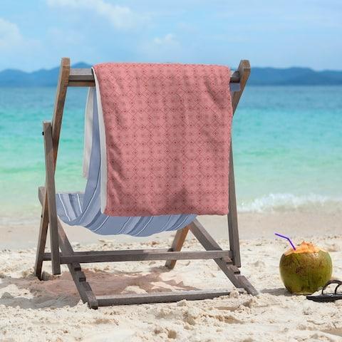 Monochrome Doily Pattern Beach Towel - 36 x 72