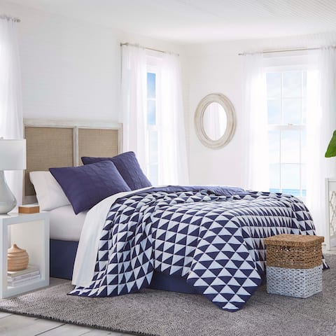 Southern Tide Portside Full/Queen Navy Quilt
