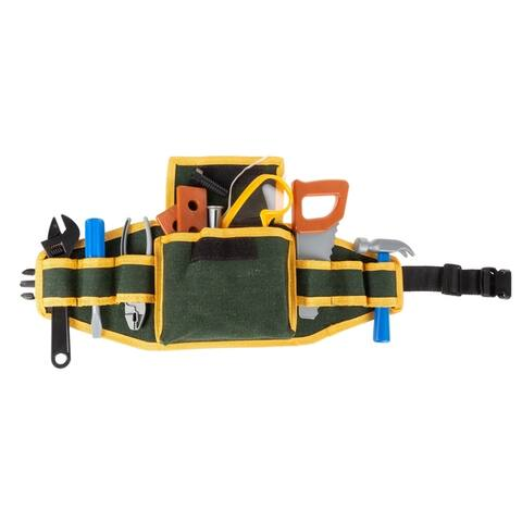 Kids Tool Belt Set Childrens 20 pc. Handyman Kit by Hey! Play! - 9 x 7 x 6.5
