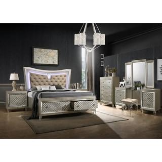 Best Quality Furniture Venetian Vanity 4-Piece Bedroom Set